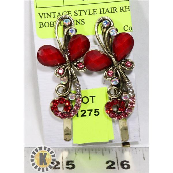 VINTAGE STYLE HAIR RHINESTONE BOBBIE PINS