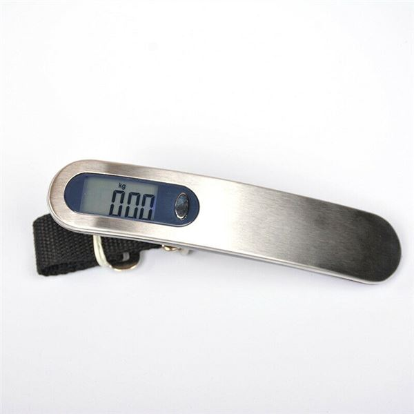 NEW WHITE/STAINLESS DIGITAL HANGING LUGGAGE SCALE