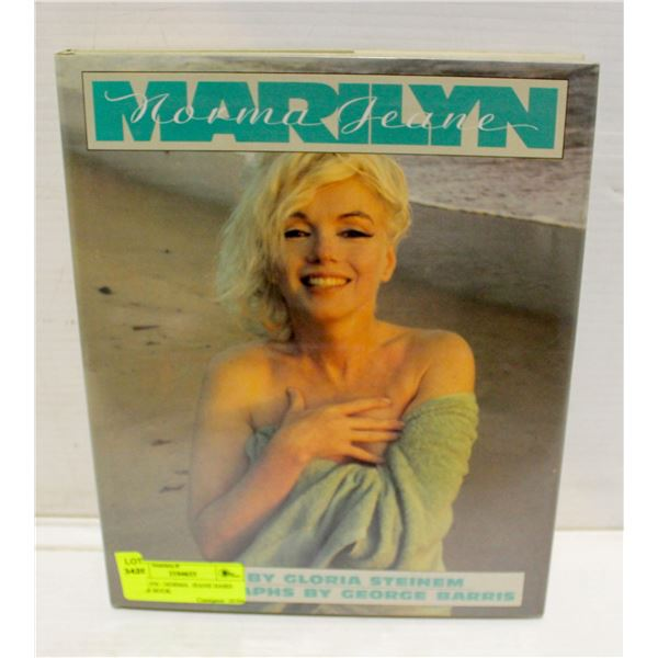 MARILYN - NORMA  JEANE HARD COVER BOOK