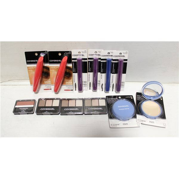FLAT OF MIXED COVERGIRL COSMETICS