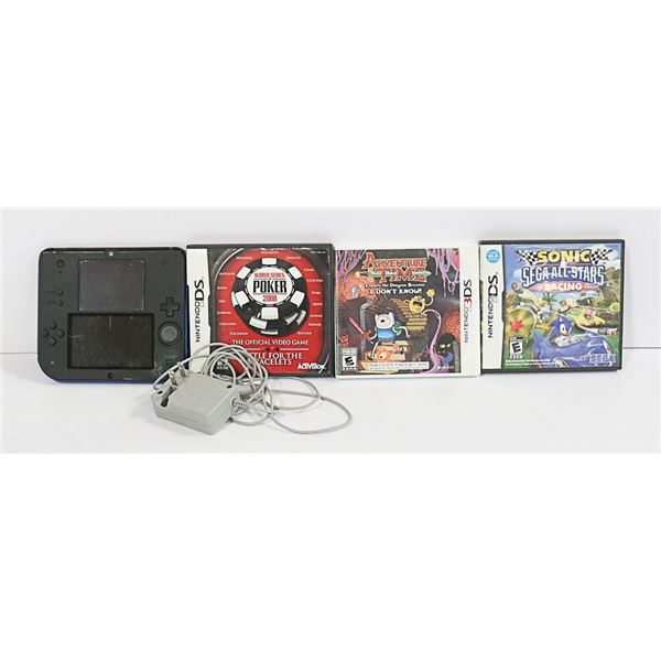 NINTENDO 2DS CONSOLE W/ 3 GAMES & CHARGER