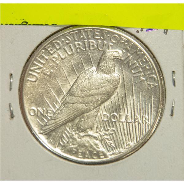 1922 U.S. SILVER PEACE DOLLAR, EF
