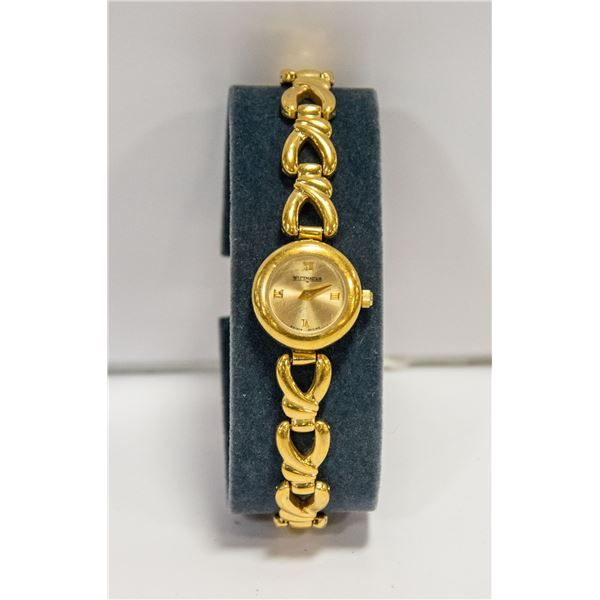 WITTNAUER GOLD COLOR SWISS WATCH
