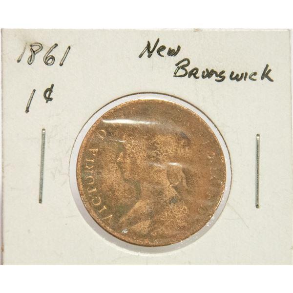 1861 NEW BRUNSWICK , VICTORIA 1 CENT
