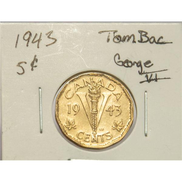 1943 TOMBAC GEORGE VI 5 CENT