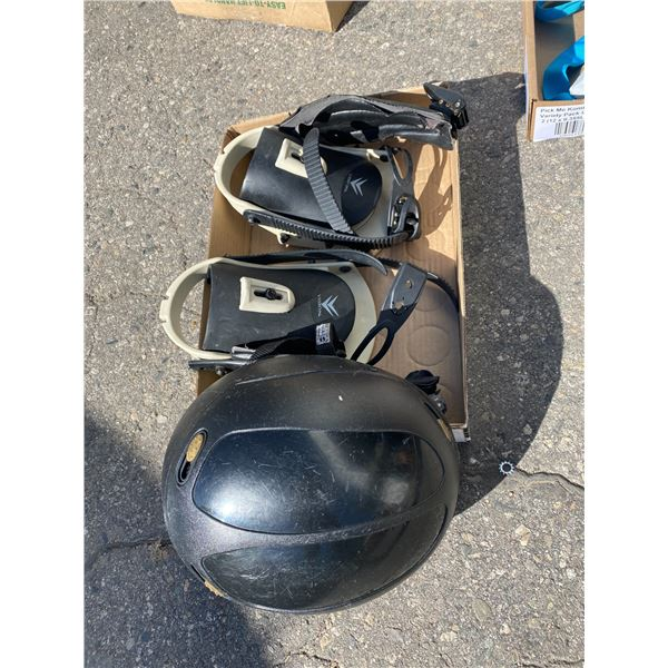 Bindings and helmet
