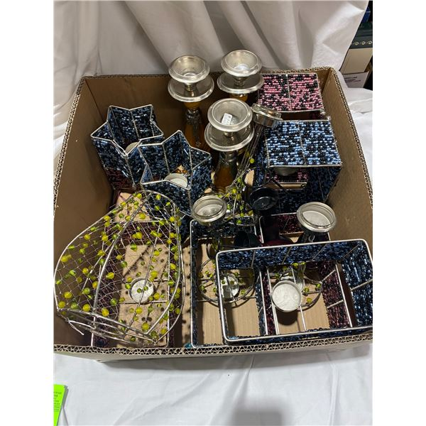 Assorted candle holders