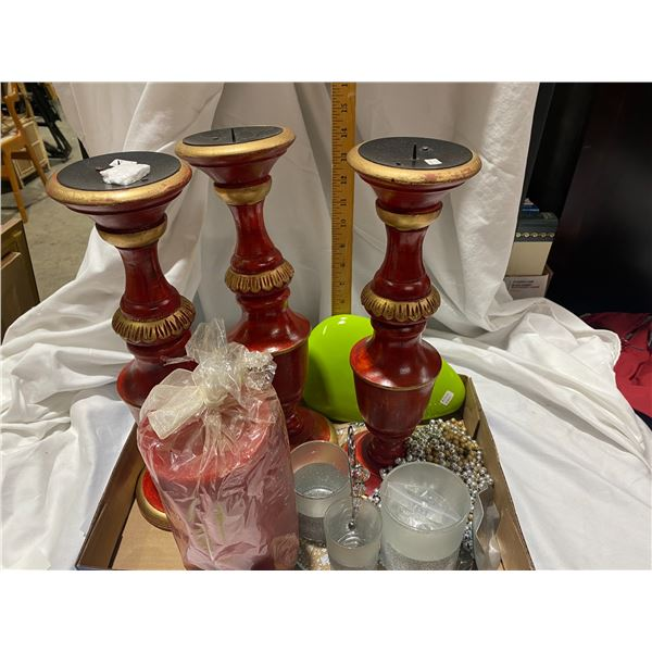 Candle holders, candl and home decor