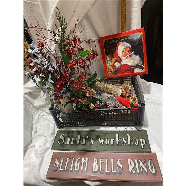 Christmas decor and book