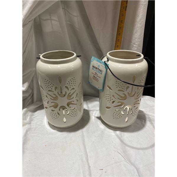 Martha's living 12 inch ceramic lanterns