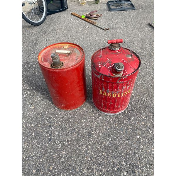 Two gas cans