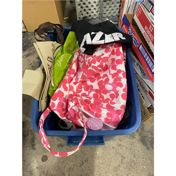 Assorted reusable bags