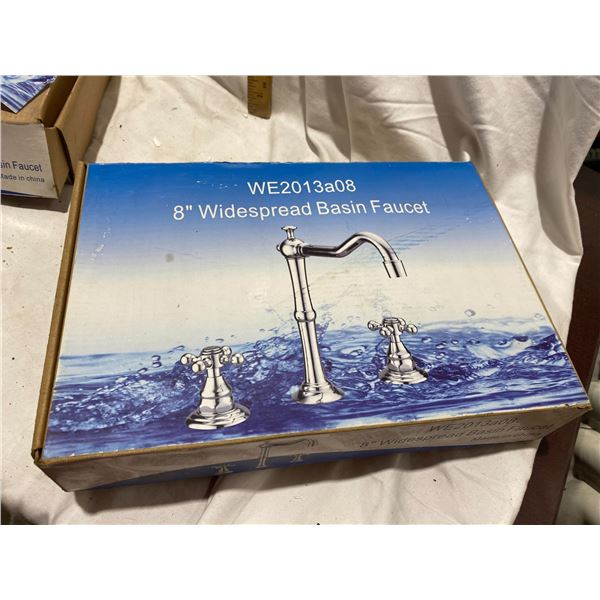 8 inch wide spread basin faucet