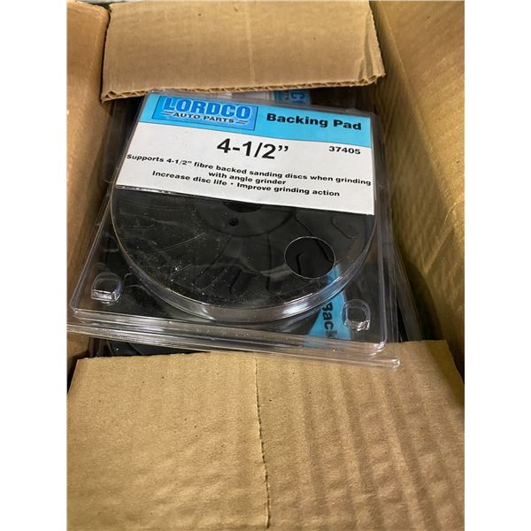24 boxes 4.5 inch backing pads new