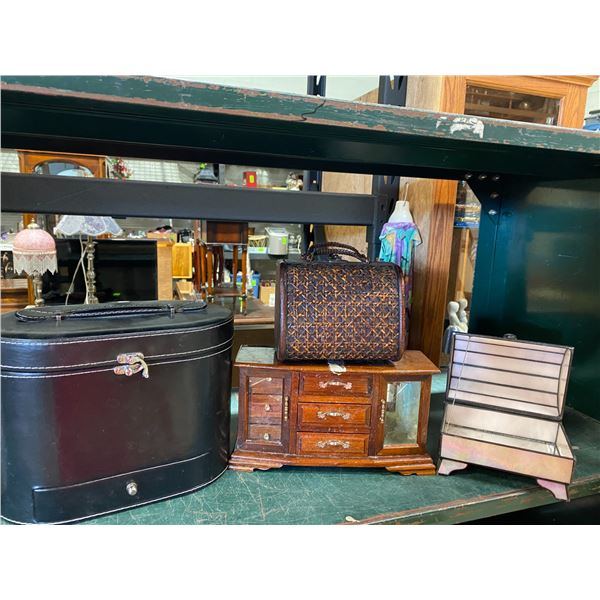 Lot jewelry boxes and other boxes
