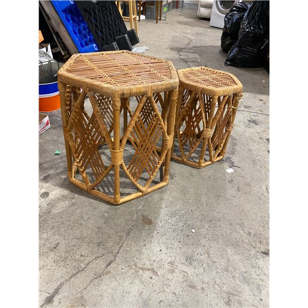 Two wicker stands