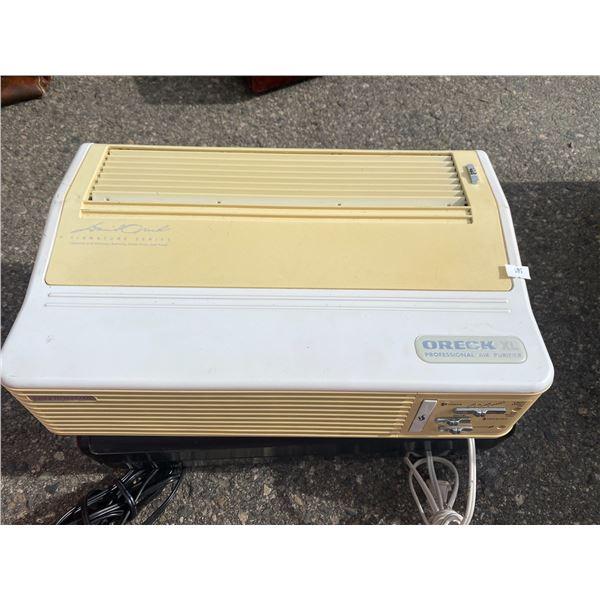 Oreck air purifier