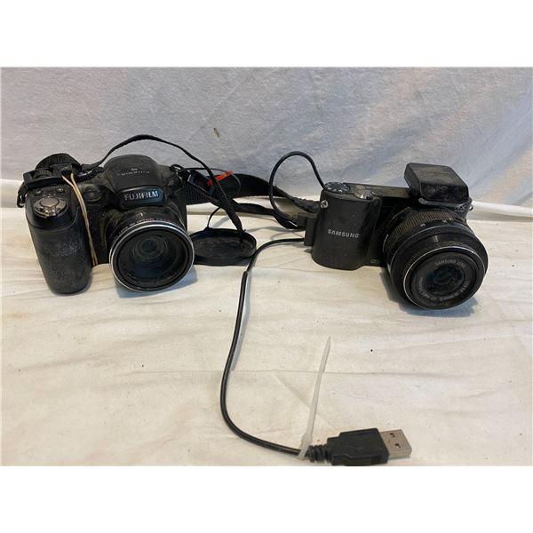 Samsung and Fuji film camera