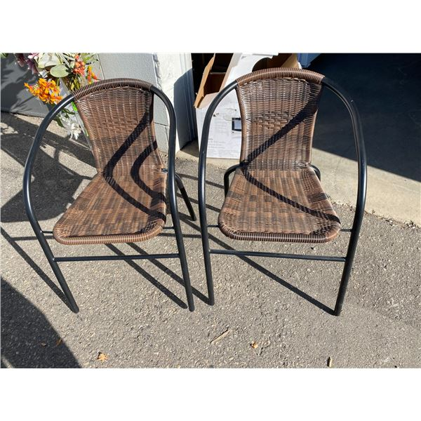 Two patio chairs