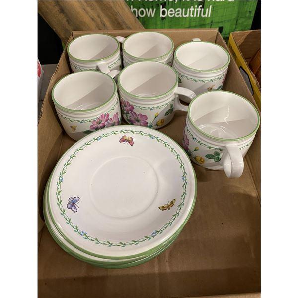 6 mugs 4 plates