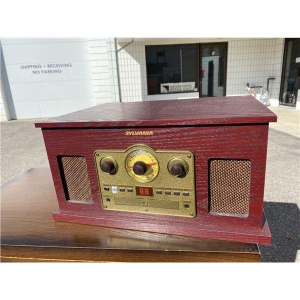 Sylvania radio record player