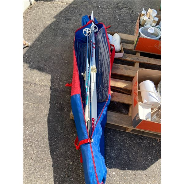 Cross country skis and poles boots size 39