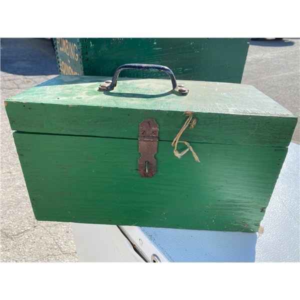 Wood box and contents