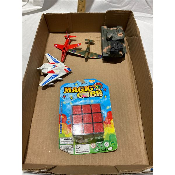 Magic cube and airplanes etc