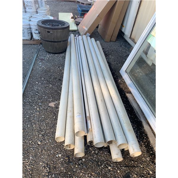 LOTS OF ASSORTED PVC 4 INCH AND 1 1.4