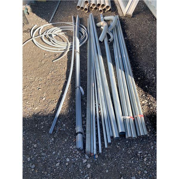 LOT OF ASSORTED METAL EMT CONDUIT / PLASTIC SLAB PIPE