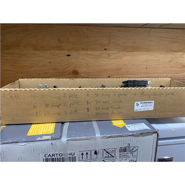 BOX OF QBH BREAKERS SEE PICTURE FOR DETAILS