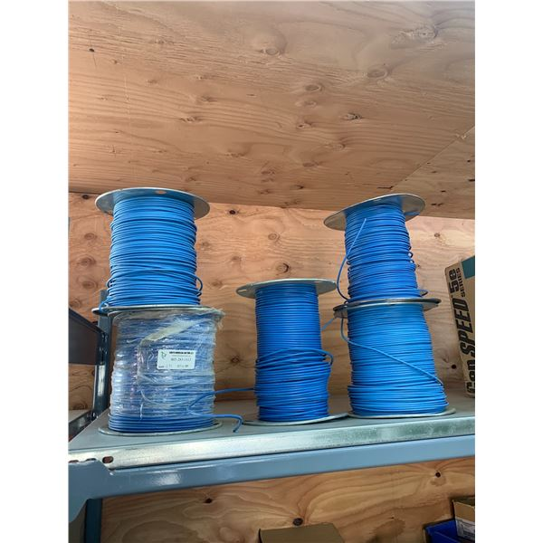 5 ROLLS BLUE WIRE