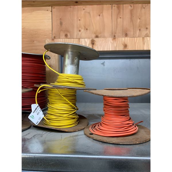 2 SMALL PARTS YELLOW WIRE / ONE ORANGE
