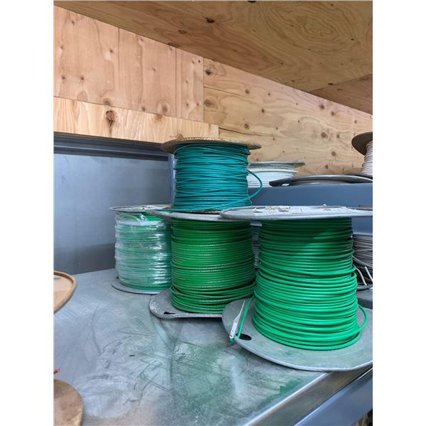 4 ROLLS GREEN WIRE