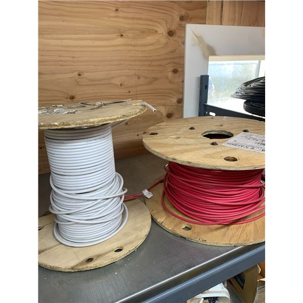 8-7 AWG RED AND WHITE GROUND WIRE