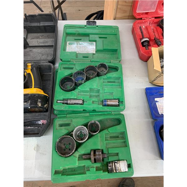 PAIR OF GREENLEE HOLE SAW KITS NO COMP