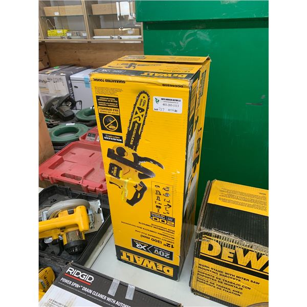 NEW DEWALT 12 INCH COMPACT CHAINSAW TOOL ONLY DCCS620B