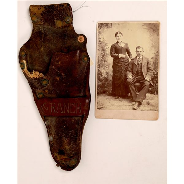 Photograph from Fly's Photography Studio Tombstone along with Holster   [140029]