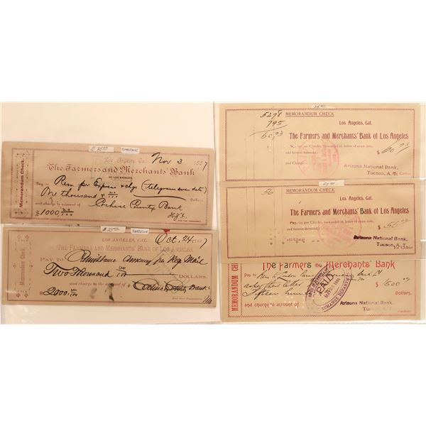 L.A. Bank Checks Written to Cochise County Accounts  [140499]