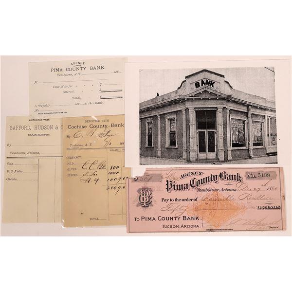 Tombstone/Tucson Bank Ephemera  [140486]