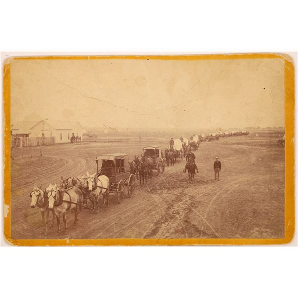 Unidentified Major Supply Wagon, Possibly Arizona, c late 1870s  [141177]