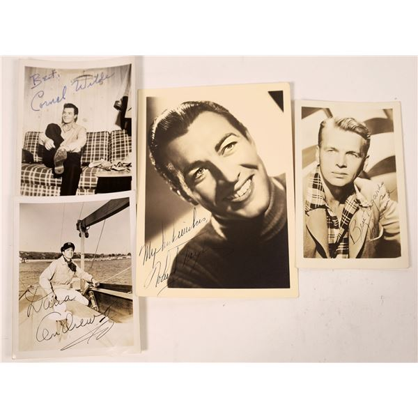 Actors From the 1930's to 1960's Autographed Photos (5)  [127684]