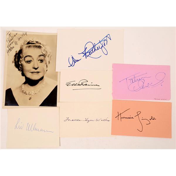 Actress Signature Cuts & Photo Part 1 (7)  [127665]