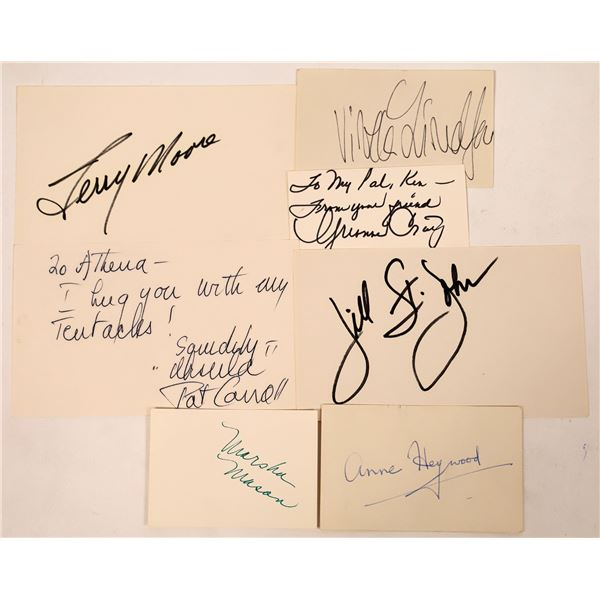Actresses Autograph Cuts 20th Century (7)  [127671]