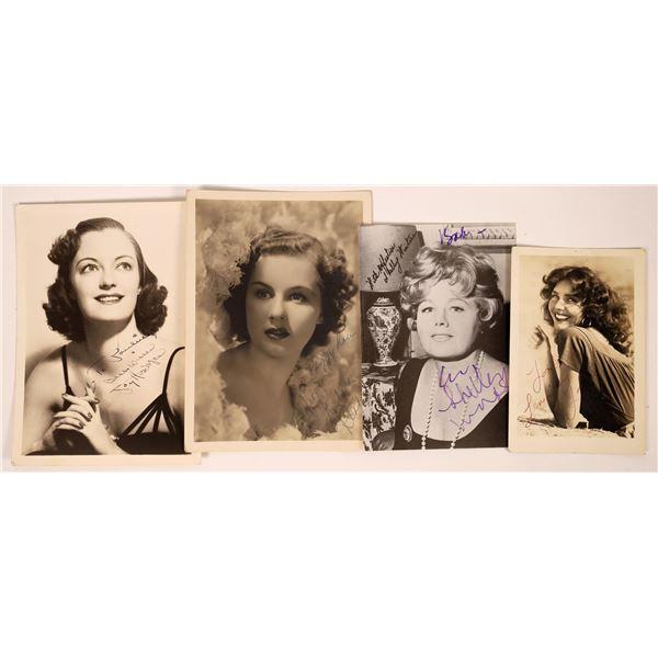 Autographed Photos 1940's Actresses (5)  [127677]