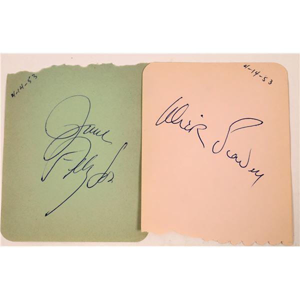 Dick Powell & June Allyson Autographs  [131724]