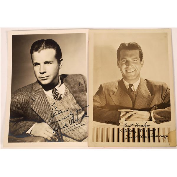 Fred MacMurray & Dick Powell Inscribed Photos (2)  [131744]