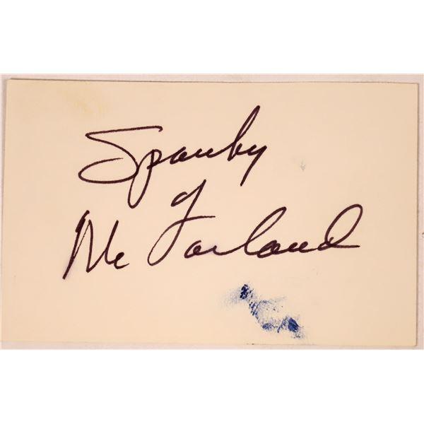 "George ""Spanky"" McFarland Autograph Cut  [131726]"