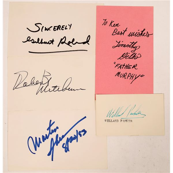 He Man Actors Autograph Cuts 1950 and On (5)  [127681]