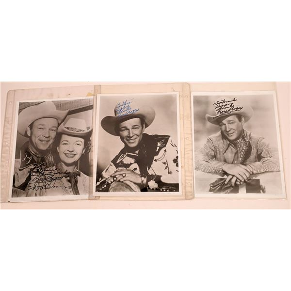 Inscribed & Signed Roy Rogers & Dale Evans Photo Trio (3)  [128963]